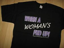 David Payton Tee - When A Woman's Fed Up Gospel Play Production 2001 T Shirt XL