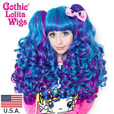 Gothic Lolita Wigs®  Baby Dollight™ Collection - Turquoise & Magenta Blend-00016