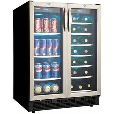 Stainless Steel French Door 60 Can & 27 Bottle Beverage Center, Dual Zone Cooler