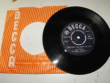Billy Fury Last Night Was Made For Love 45 Single UK Decca Label
