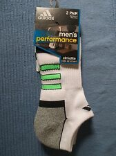Men's ADIDAS Athletic Climalite half Cushion Arch Compression SOCKS 2 PAIRS NWT