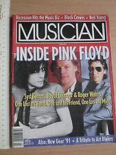 MUSICIAN MAGAZINE 1991,Pink Floyd,Syd Barret,Art Blakey,Neil Young,Bill Wyman