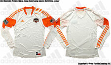 MLS Houston Dynamo 13 Away Model adidas Authentic Long Sleeve Jersey(L)White