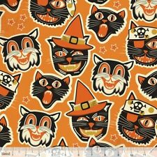 Blend Spooktacular Eve by Maude Asbury 101 107 11 2 Orange Cathead Cotton Fabric