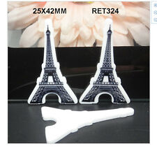 Paris Eiffel Tower Planar Resin flatback 25mm x 42mm (pack of 5)