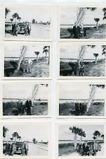 Lot of 8-1940s-Snapshot Photo's-S A KOENIG Family + Negatives-Man-Lady-Tropical