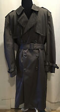 Stratojac Men Gray Removable Lining Winter Rain Trench Over Coat Jacket Sz 44 XL