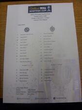 14/04/2013 Color teamsheet: Taza escocés semi-final-Dundee unida v Celta [a