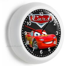 CARS LIGHTNING MCQUEEN WALL CLOCK BOYS BEDROOM BABY NURSERY ROOM ART HOME DECOR