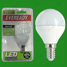 6x 4W LED Eveready Ultra Low Energy Instant Start Golf Light Bulb SES E14 Lamp