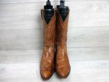 DAN POST MENS WESTERN/COWBOY BOOTS SIZE UK 10 BROWN VERY GOOD CONDITION EA6229