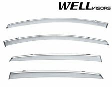 WellVisors Side Window Visors W/ Chrome Trim For 2016-UP Chevrolet Malibu