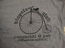 Vintage Ringer Bicycle Club Restaurant Pub New Jersey Drinks Bike T Shirt S