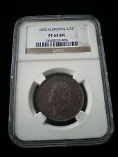 Rare Great Britain George IV 1826 Proof Half Penny 1/2d - PF 63 BN