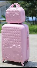 2pc Hello Kitty Travel Carry On Luggage Suitcase with Makeup Case