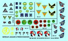 Berna Decals 1/48 SEPECAT JAGUAR A FRENCH SQUADRON BADGES Part 1
