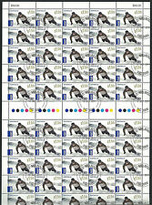 2011 $1.60 Snowboarder International Postage Full and Complete sheet CTO MUH