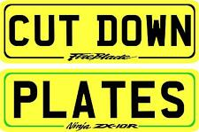 """MOTOR CYCLE MOTORBIKE NUMBER PLATES SHOW PLATES 8"""" X 2.5"""" !!!!!"""