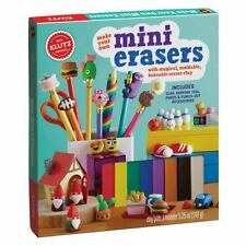 Make Your Own Mini Erasers Toy 8 Colors Eraser Clay Kit Shaping Tool Kids Play