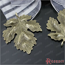 (23248)10PCS 37*35MM Antique Bronze Zinc Alloy Leaves pendants Jewelry Findings