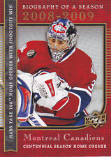 08-09 UD Biography of a season Carey Price
