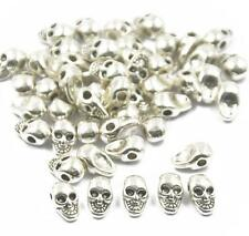 50x Metal Charm Skull Beads For Paracord Bracelet Knife Lanyards Accessories