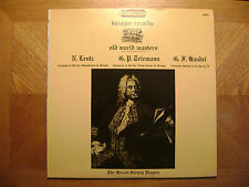BAROQUE LP RECORD/ MOZART SOCIETY PLAYERS/ OLD WORLD MASTERS/HANDEL/LENTZ/ EX+