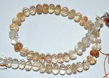 """73.Cts 8"""" Natural Kunzite Faceted Roundelle Gemstone Beads Size 5.5-6mm"""