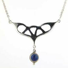 Lapis Lazuli and Sterling Silver Pendant Necklace