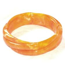Bijou Bracelet vintage jonc manchette plastique orange bangle