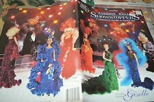 Chenille ShowStopper Gowns Fashion Doll Clothing Crochet Pattern ASN