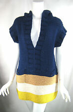 MARC BY MARC JACOBS NEW Twilight Blue Multi Sleeveless Sweater Tunic Sz M/L $358