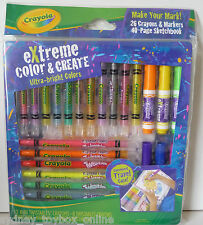 Crayola Extreme Colour and Create Crayons and Markers with Sketch Book (Last 2)