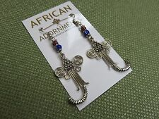 African Ethnic Jewelry FAIR TRADE SILVER PLATED WIRE ELEPHANT EARRINGS KENYA