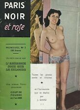 "Rivista sexy vintage ""Paris Noir et Rose"" 1952 - erotica curiosa -  Pin Up"