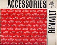 ACCESSORI RENAULT 1967 mercato del Regno Unito vendite FOLDOUT opuscolo 4 8 1100 16
