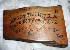 Ouija Board Wood Wooden Pagan Wiccan Gothic Game Planchette Paranormal Haunted