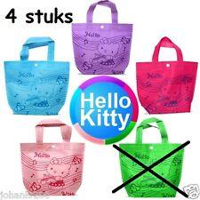 Draagtas / draagtasje, 4 stuks,  Hello Kitty, met drukknop