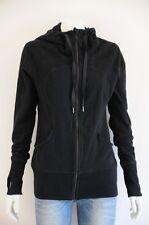 'Lululemon' Women's Black Long Sleeve Hooded Jacket {Size 6 / AUS 10}