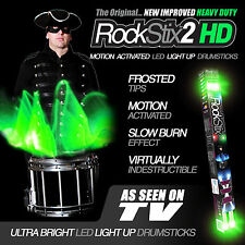 ROCKSTIX2 HD BRILLANTE VERDE LED LUZ UP BAQUETAS (accesorios) (no firestix)