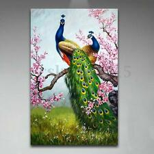 DIY Art Print Peacock Oil Painting Picture Printed Home Room Decor Wall Sticker