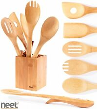 Neet Organic Bamboo Elevated Cooking & Serving Utensils 6 Piece Set Bmb-su6