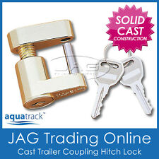 COMPACT TRAILER COUPLING LASER HITCH LOCK & KEYS - Caravan/4x4/Boat Anti-Theft