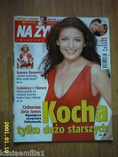 CATHERINE ZETA JONES on front cover Na Żywo 8/2003 Polish magazine
