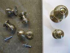 Victorian Reproduction Beehive Brass Cupboard Door Knobs & Roses RECBA