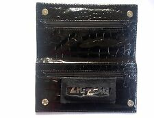 Black Tobacco Pouch 15cm X 8.5cm By ASH With Zig Zag Standard Size Booklet