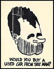 Would You Buy a Used Car From This Man? (Nixon). Copy of comic Drawing.