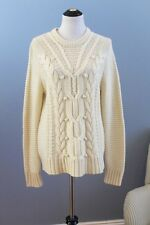J CREW COLLECTION Sz L Large 100% Cashmere Cable Pullover Sweater NWT