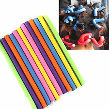10 x Newly Bendy Soft Foam Hairdressing Rollers Hair Styling Curlers - 24cm Long