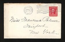 1907 Brooklyn Station L (DPO 1917), New York Cover--Fairport, NY backstamp